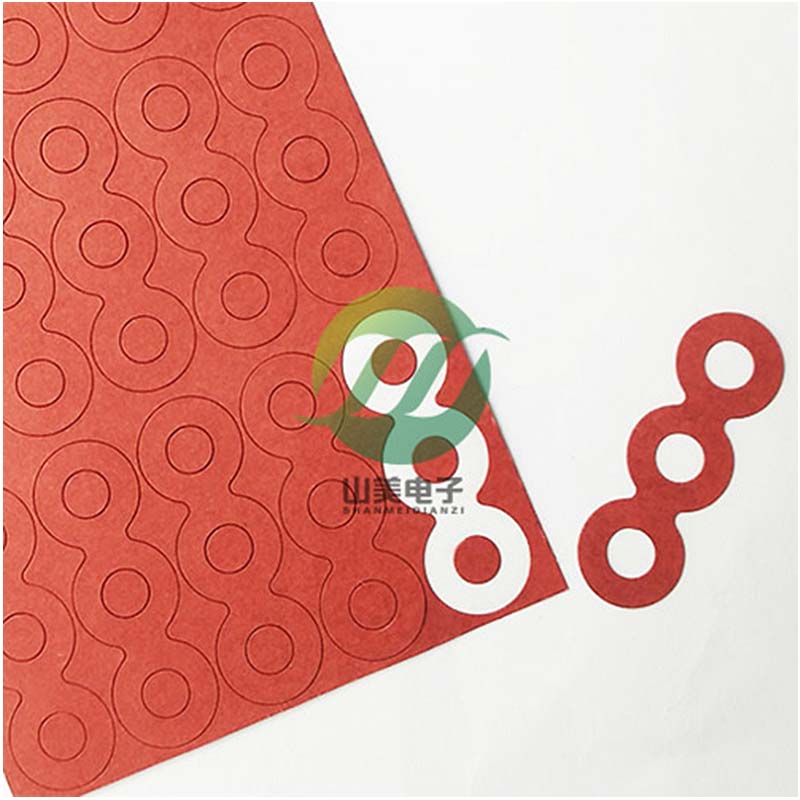 供应快巴纸垫片18650快巴纸绝缘垫片快巴纸绝缘面垫红快巴纸