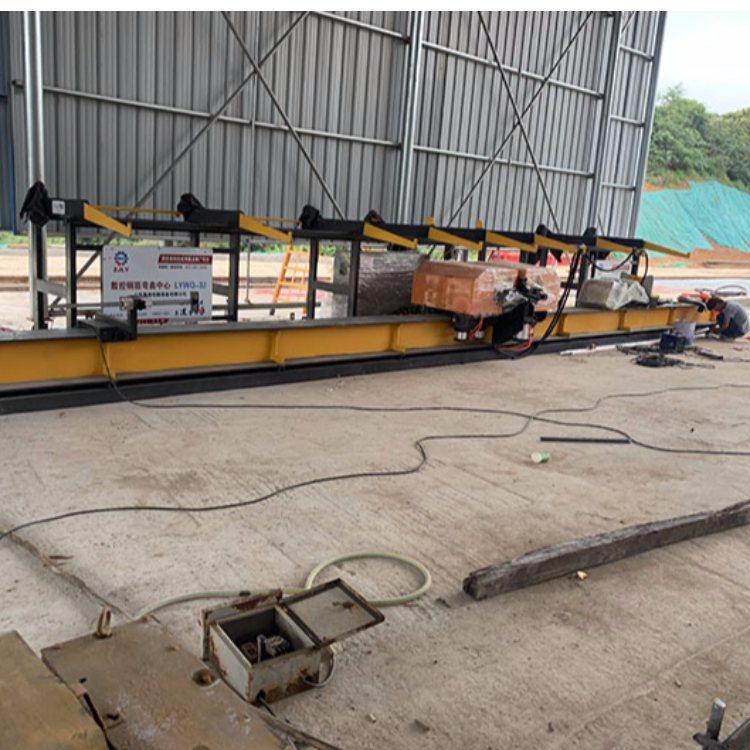 数控钢筋弯曲中心工厂 力孚 两机头数控钢筋弯曲中心工厂