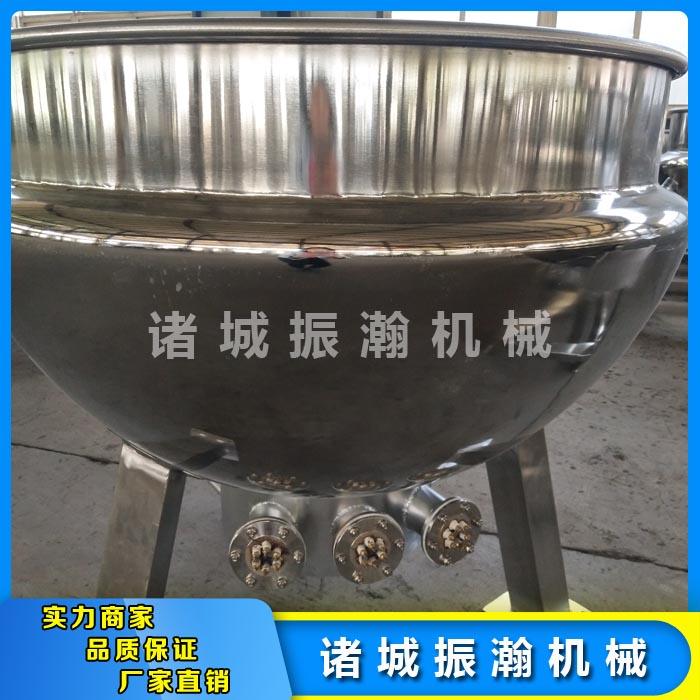 诸城振瀚机械 不锈钢夹层锅畅销全国 蒸汽夹层锅工作原理
