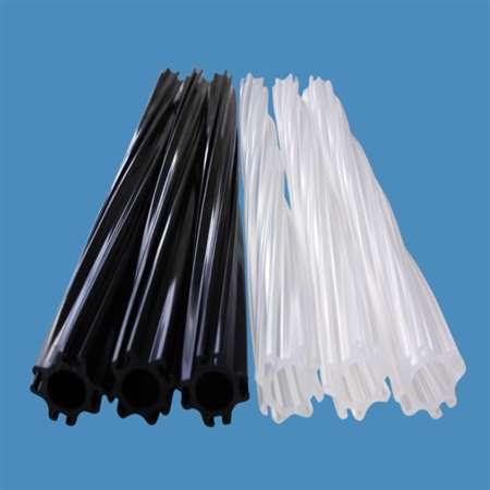 毛刷管 大量供应ABS塑胶异型材 吸尘器配件 圆刷轴挤出