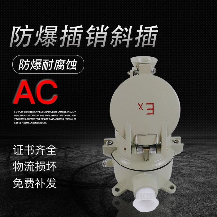 AC-16Z直插式防爆插销单相3芯三相4孔5极工业防爆插头插座