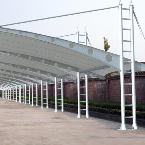 浩远篷业 小区膜结构车棚 景观膜结构车棚多少钱