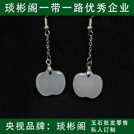 蘇州琰彬閣 天然羊脂白玉耳環廠家直銷質量保障專業出售貨源充足