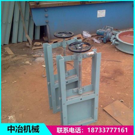 304不锈钢圆口卸料阀 气动方口插板阀 插板阀厂家定制生产手动插板阀