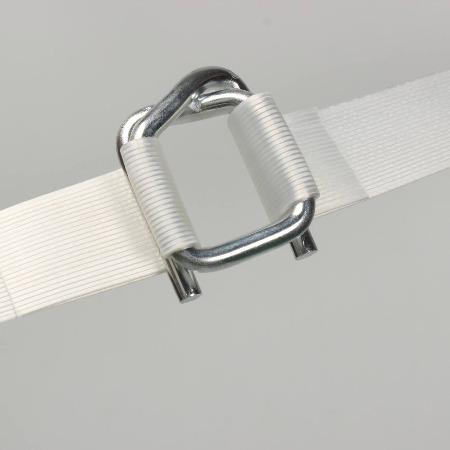 山东聚酯纤维打包带/打包带专用打包扣钢丝打包扣16mm