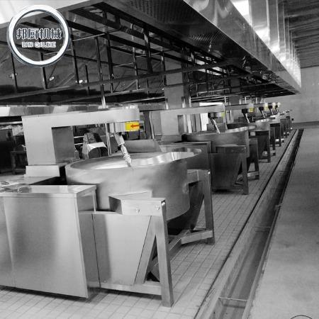 全套不锈钢酱料生产线操作 多功能辣椒酱料生产线设备报价