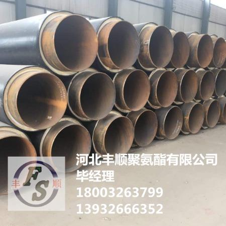 预制聚氨酯直埋保温管厂家  高密度聚乙烯外护规格  聚氨酯保温管施工
