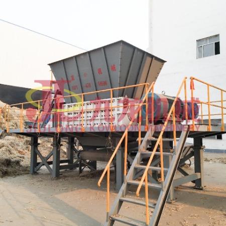 九龙机械大型稻草捆撕碎机厂家供应 生物质垃圾撕碎机 双轴撕碎机 农作物秸秆粉碎机 现货直销