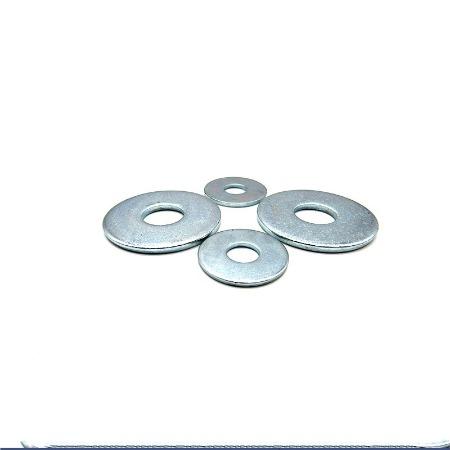 厂家制造电镀大外圆热镀锌4.8级平垫粉末平垫明亮不沾平垫热镀锌大外圆平垫