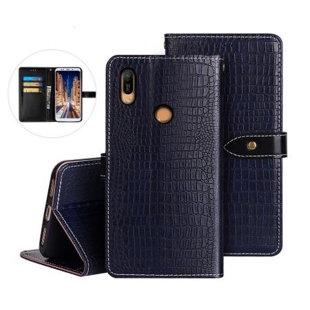 直销畅销款华为荣耀Huawei Y6 2019手机皮套手机壳 商务式鳄鱼纹翻盖防摔手机套手机保护套