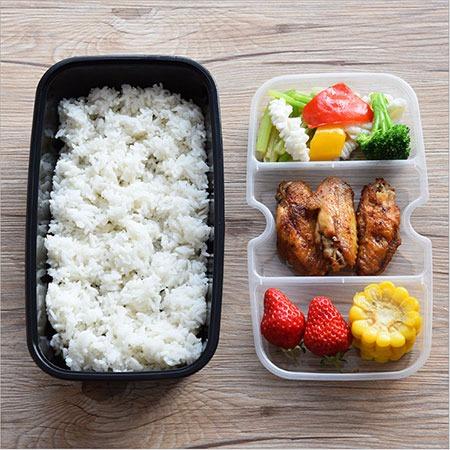 一次性快餐盒饭盒双层饭盒三格内衬黑色高档加厚两层打包盒