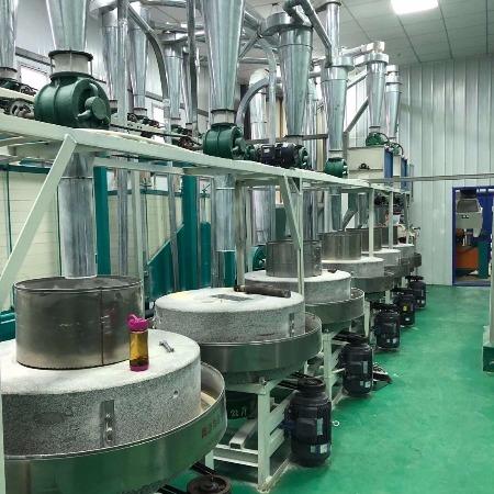 兴达面粉机石磨面粉机生产厂家,低速低温加工工艺;