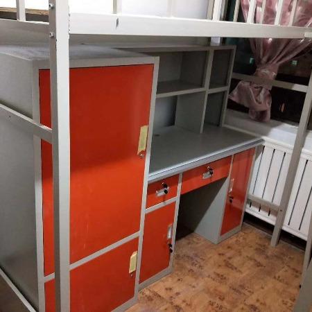 想要有充足的睡眠就得有一张好床世腾牌简单单人床 学生上下铺 员工高低铁架子床 公寓床  简约中式床