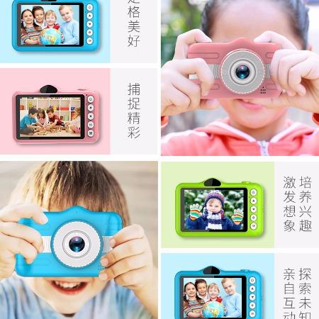儿童相机双镜头可自拍操作简便儿童玩具相机礼品