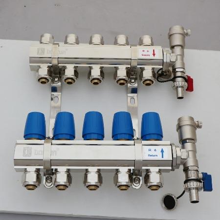 地暖分水器 分集水器厂家 地暖分水器代理批发