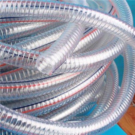 pvc钢丝增强管 PVC透明钢丝管吸尘管 金泽管业 厂家直供