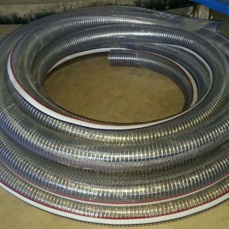 金泽管业厂家直销pvc纤维增强软管  pvc钢丝管      PVC透明钢丝管