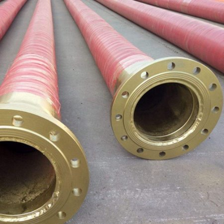 金泽厂家 生产 排吸钢丝骨架缠绕胶管   大口径耐高压耐磨钢丝法兰夹线胶管