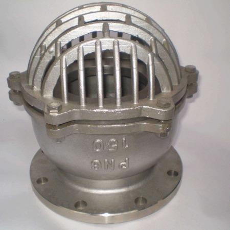 H42X铸钢法兰底阀