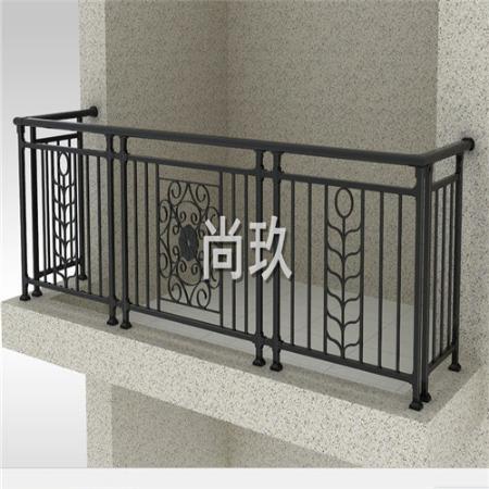 尚玖生产订制阳台铁艺护栏 装修阳台护栏 铁艺护栏 磨砂黑色