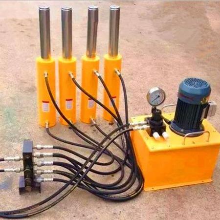 【晟羯】同步千斤顶、电动同步千斤顶,一拖二、四、六、八均可定制,可根据需要增加位移传感器,PLC系统