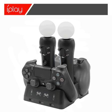 新品PS4手柄四充双座充PS4 MOVE充电器PS4 VR手柄多功能充电座充