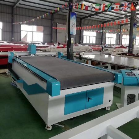 河南郑州户外篷布震动刀切割机,济南镭利厂家直销仿皮人造皮革振动刀切割机