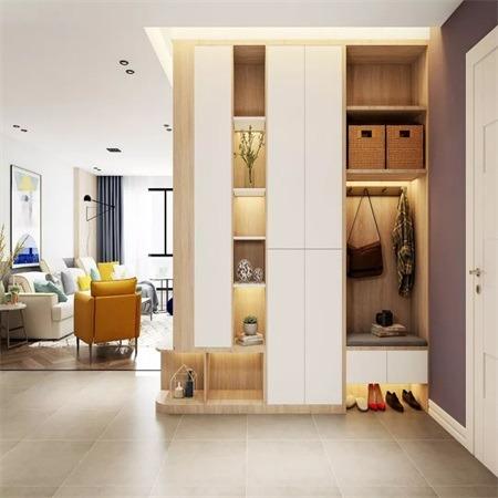 南京定制 进门鞋柜 玄关组合柜   轻奢风设计风格