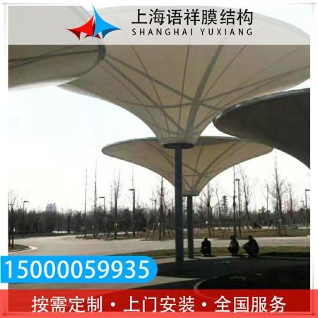 膜结构景观棚 铝合金户外遮雨棚 结构牢固 经久耐用 价格优惠