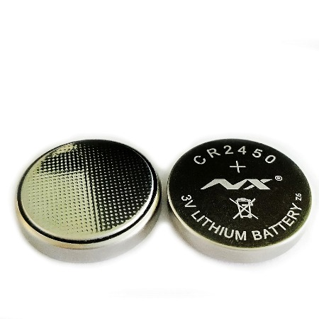 CR2450纽扣电池600mah高容量 智能水杯盖焊脚电池电子标签电池