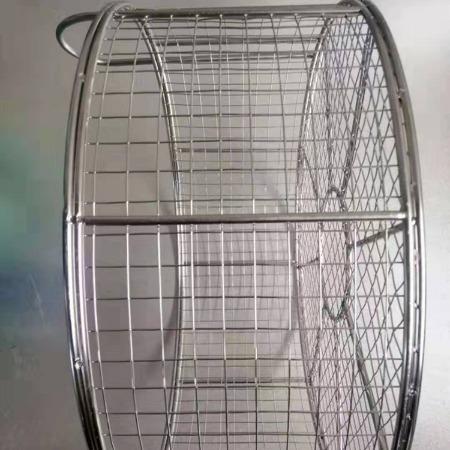 不锈钢医用消毒筐,食品灭菌筐,304编织网消毒筐食品级别网筐可定做