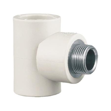 联塑 外螺纹三通Ⅰ型(PP-R 配件) 白色/灰色   湖南联塑总代理