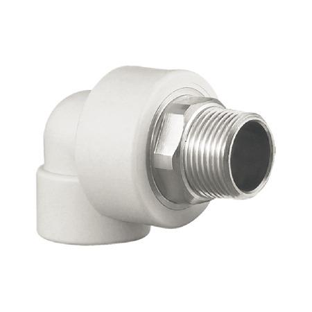 联塑 外螺纹弯头Ⅰ型(PP-R 配件) 白色/灰色   湖南联塑总代理