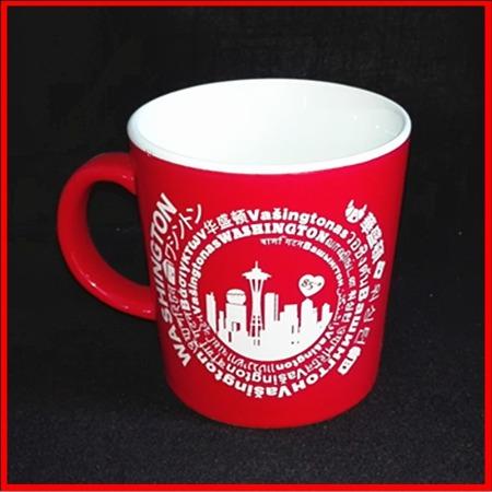 陶瓷杯定制logo 创意彩色陶瓷杯 供应广告促销定制logo 定做批发