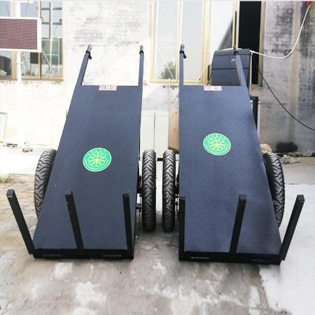 建筑工地专用加气块电动拉砖车  两轮手推电动平板拉砖车 物流手推搬用车