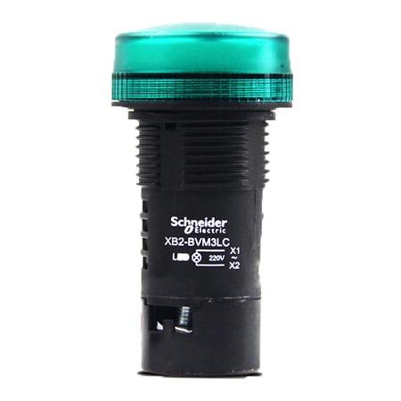 施耐德指示灯  XB2-BVM3LC绿色电源信号灯AC220V    绿色指示灯220V