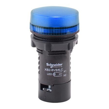 施耐德按钮指示灯   XB2  蓝色 指示灯 XB2BVM6LC 220VAC  蓝色指示灯220V