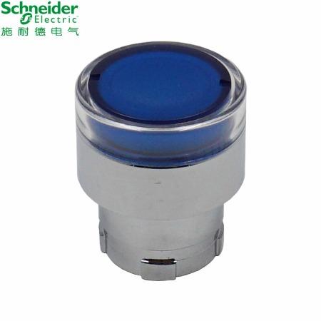 施耐德按钮指示灯 XB2B系列带灯按钮头;ZB2BW36C 带灯按钮头蓝色