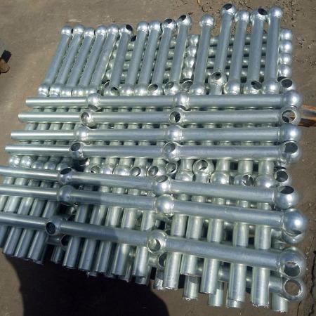 六畅厂家直销来样加工定制 球形立柱  热镀锌球接栏杆
