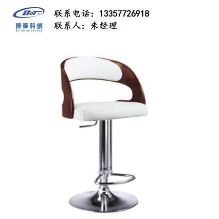 北欧休闲铁艺吧椅 创意简易型酒吧 实木吧椅 高脚凳定制 卓文办公家具休闲吧椅 YZ-15