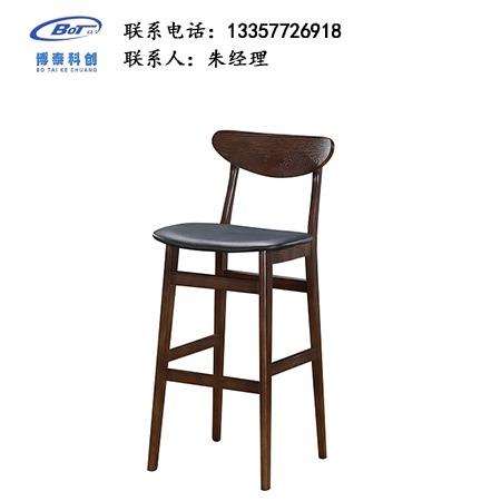 北欧休闲铁艺吧椅 创意简易型酒吧 实木吧椅 高脚凳定制 卓文办公家具休闲吧椅 YZ-20
