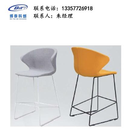 北欧休闲铁艺吧椅 创意简易型酒吧 实木吧椅 高脚凳定制 卓文办公家具休闲吧椅 YZ-03