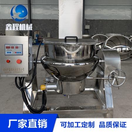 可倾电加热夹层锅 肉制品加工设备 诸城鑫程厂家定制 长期供应夹层锅
