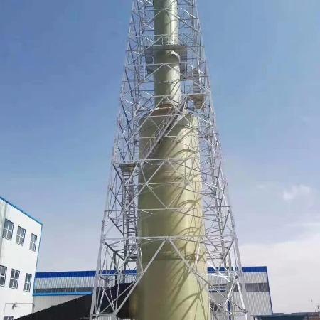 宏润玻璃钢锅炉脱硫塔烟囱  耐高温净化塔烟囱