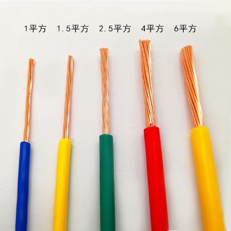 电线BVR4 2.5 1.5 1平方单芯软电线电缆