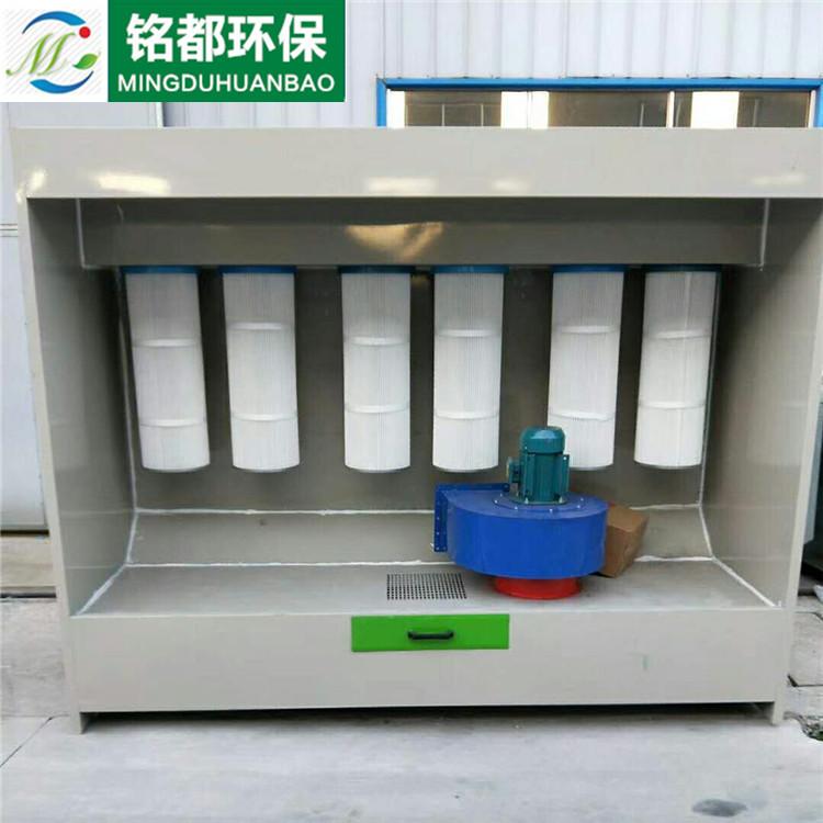 厂家直销供应铭都塑粉回收机 高温固化烤漆房喷塑机