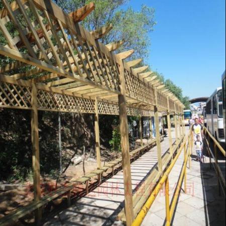 北京木廊架设计施工户外花架设计施工