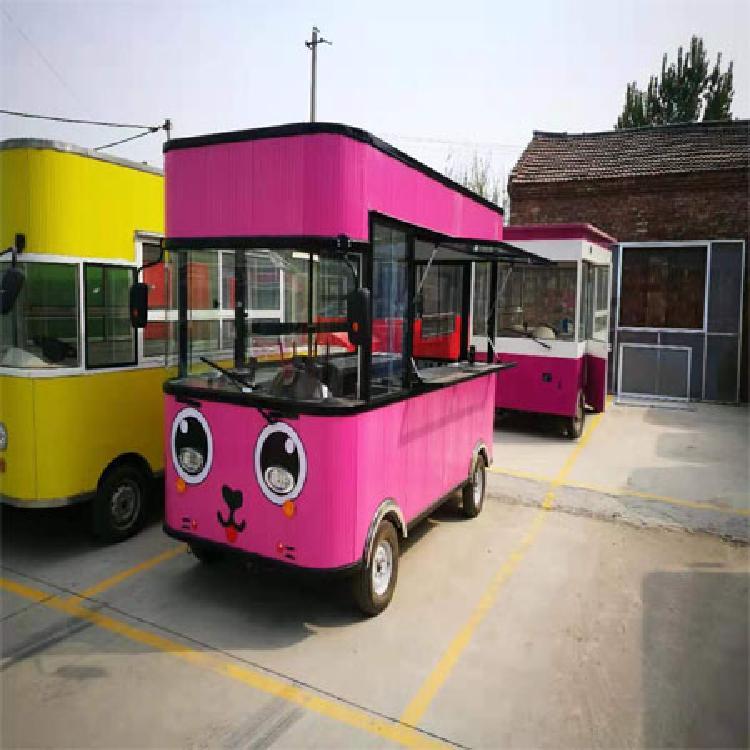 厂家直销电动餐车电动四轮小吃车早餐车炸串车宣传车售货车冷饮