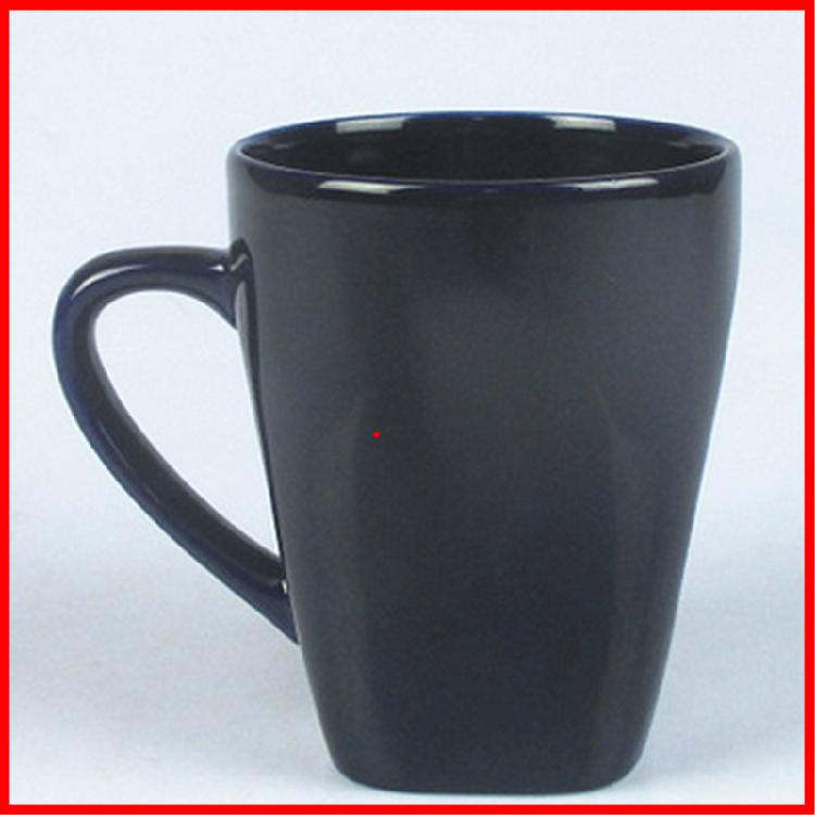 黑色马克杯 纯色商务馈赠 供应创意加印logo黑色马克杯 定制批发