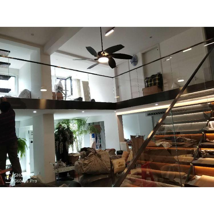 建安品牌楼梯扶手,无框全玻璃楼梯扶手